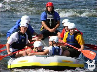 white water rafting in the Pyrenees